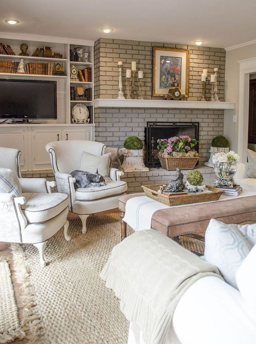 Beautiful French Country Living Room Decor Ideas 24 French