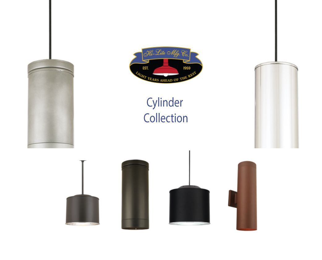 Wall Lights Pendants And Flush Mounts Oh My Hi Lite Mfg Co Is Showcasing Their Cylinder Collection Here Lighting Flush Mounts Barn Lighting Cylinder