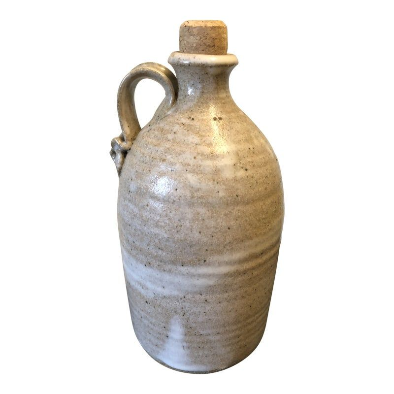 Fantastic mid seventies stoneware jug produced by the acclaimed artist Fred Yokel while still studying at San Jose State ceramics program.  Estate fresh and in fantastic condition.  The art jug is a perfect compliment to any collection.