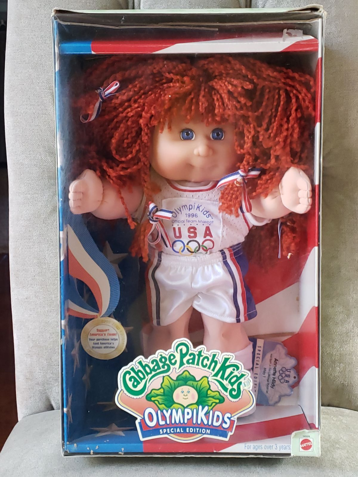 1996 Cabbage Patch Olympikids Special Edition Annette Hildy Basketball Cabbage Patch Kids Cabbage Patch Kids Dolls Cabbage Patch
