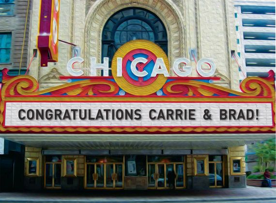 Custom Gift For Friends Of Chi Town Chicago Theater Marquee
