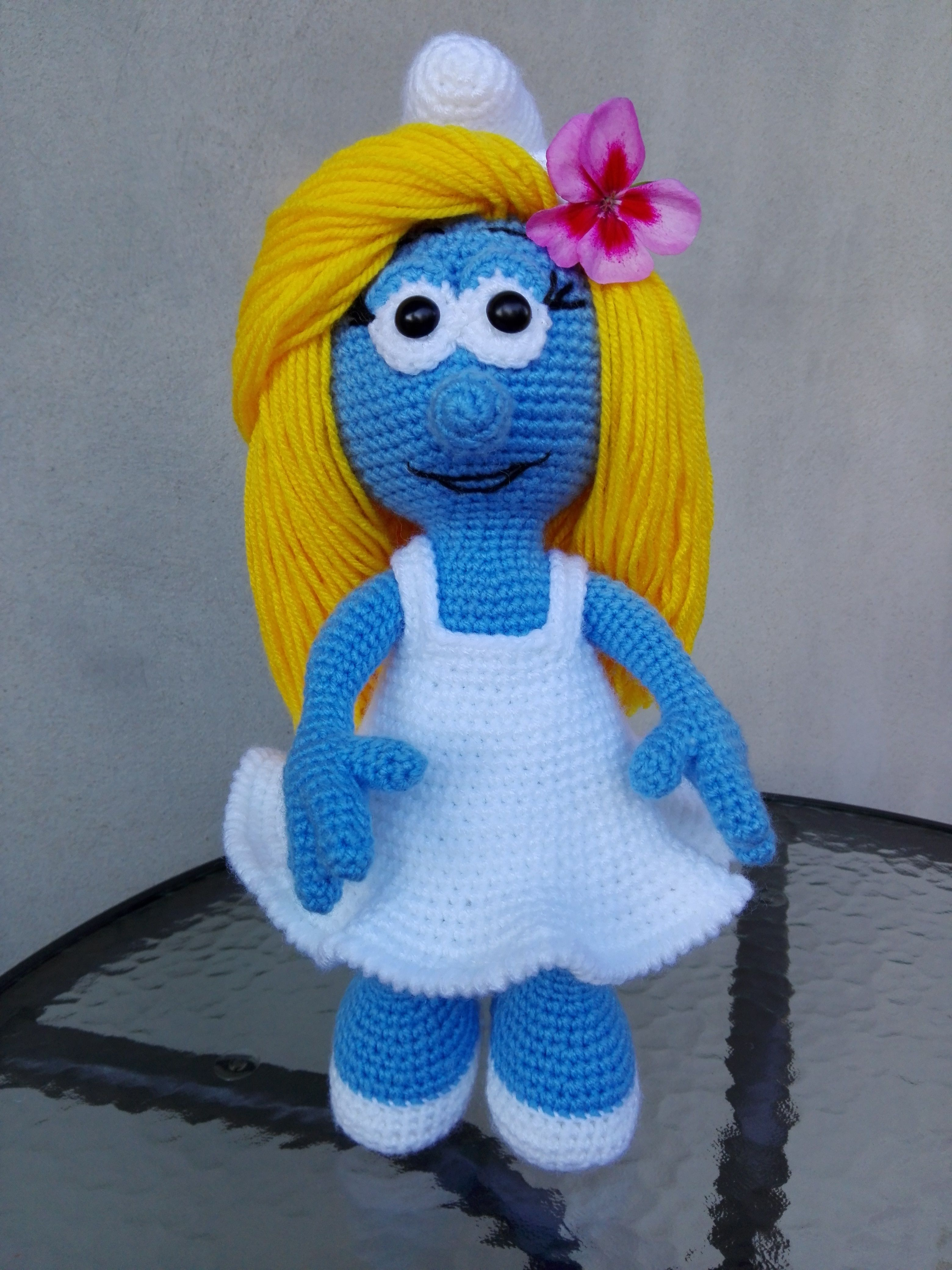 Smerfetka smurfette crochet crochet tatting scrap smerfetka smurfette crochet bankloansurffo Image collections