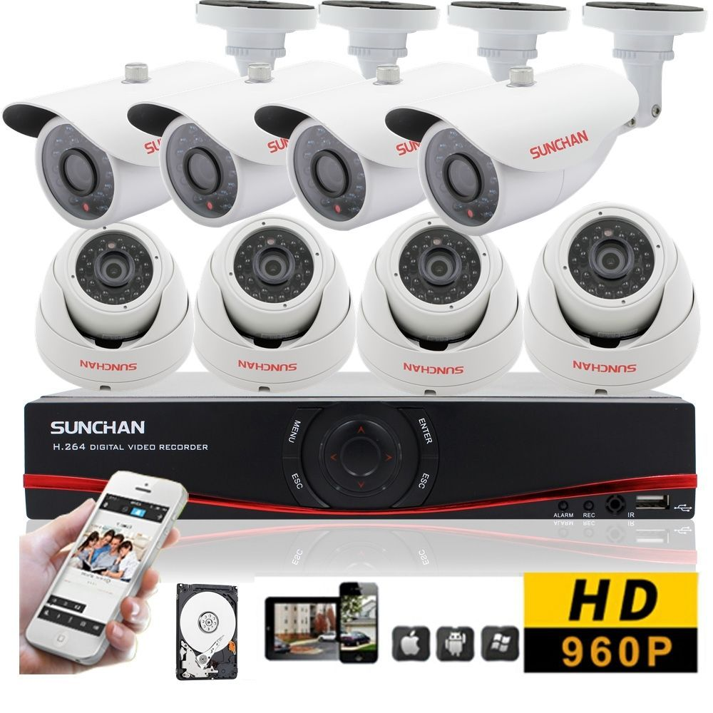 Details about 8CH DVR AHD 960P 8 IR Indoor Outdoor Night CCTV Home ...