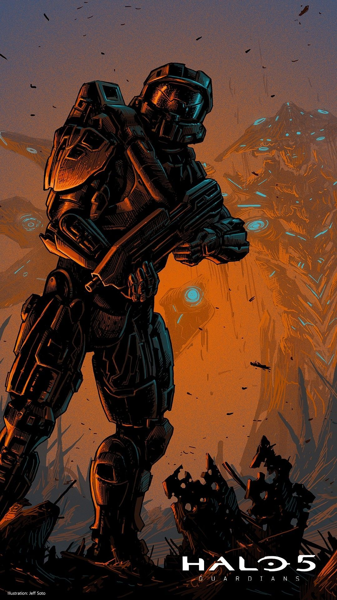 Visit Halo 5 Wallpaper Android On High Definition Wallpaper At Rainbowwallpaper Info Pin If You Like It Iphone Halo Drawings Halo 5 Guardians Halo Guardians