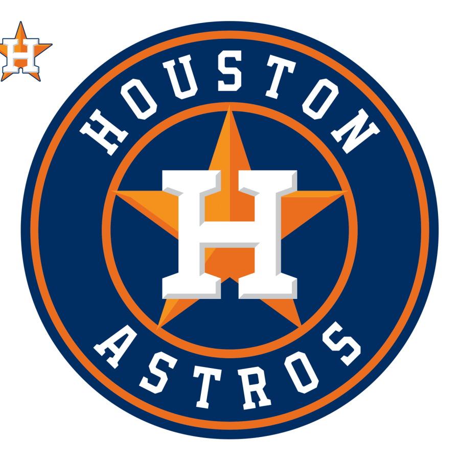 Houston Astros Logo Giant Officially Licensed Mlb Removable Wall Decal Sports Team Logos Astros Baseball Nfl Scoreboard