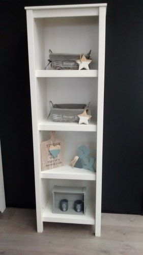 boekenkast jade wit 1 | Houten Meubel Outlet | Pinterest