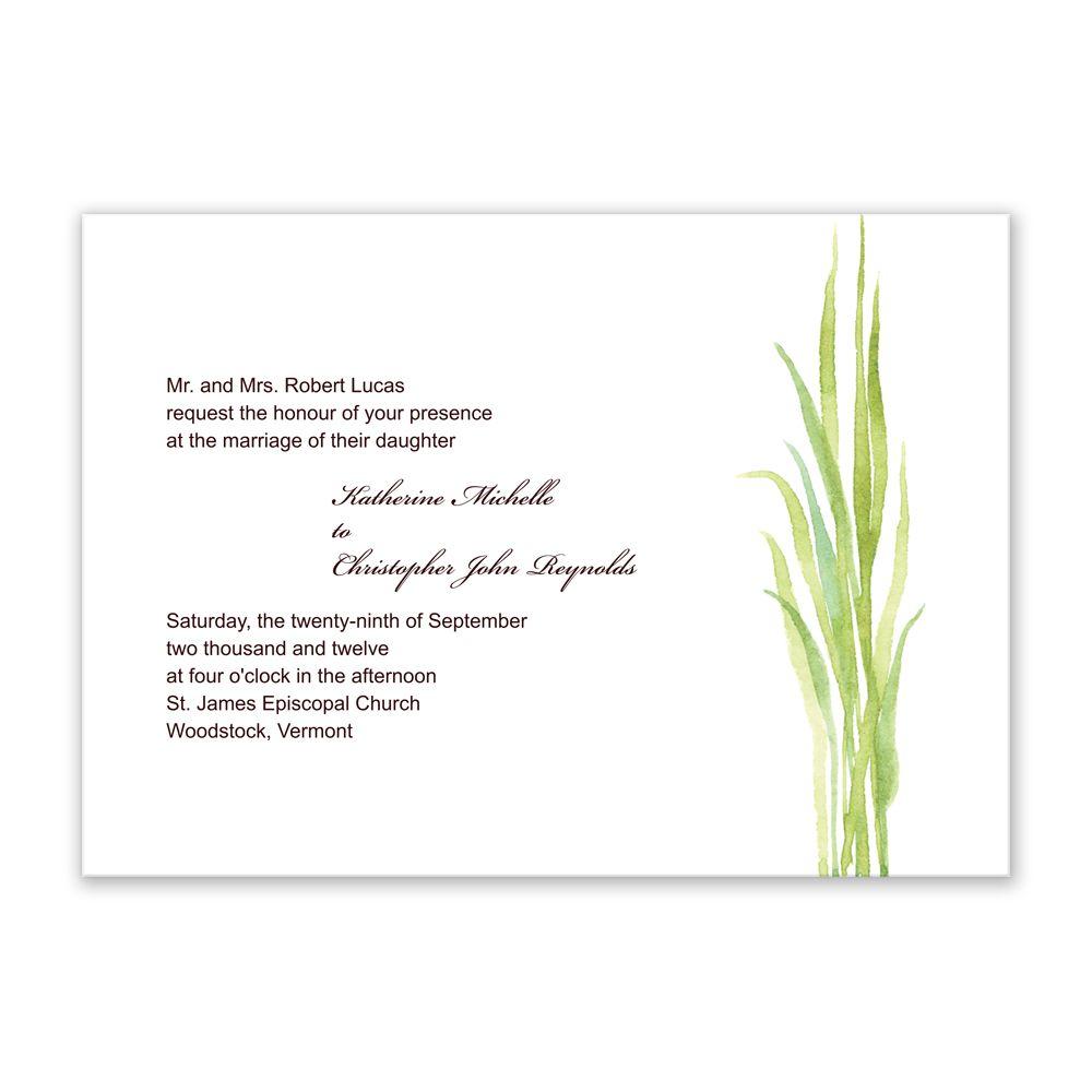 Grass simple invitation idea