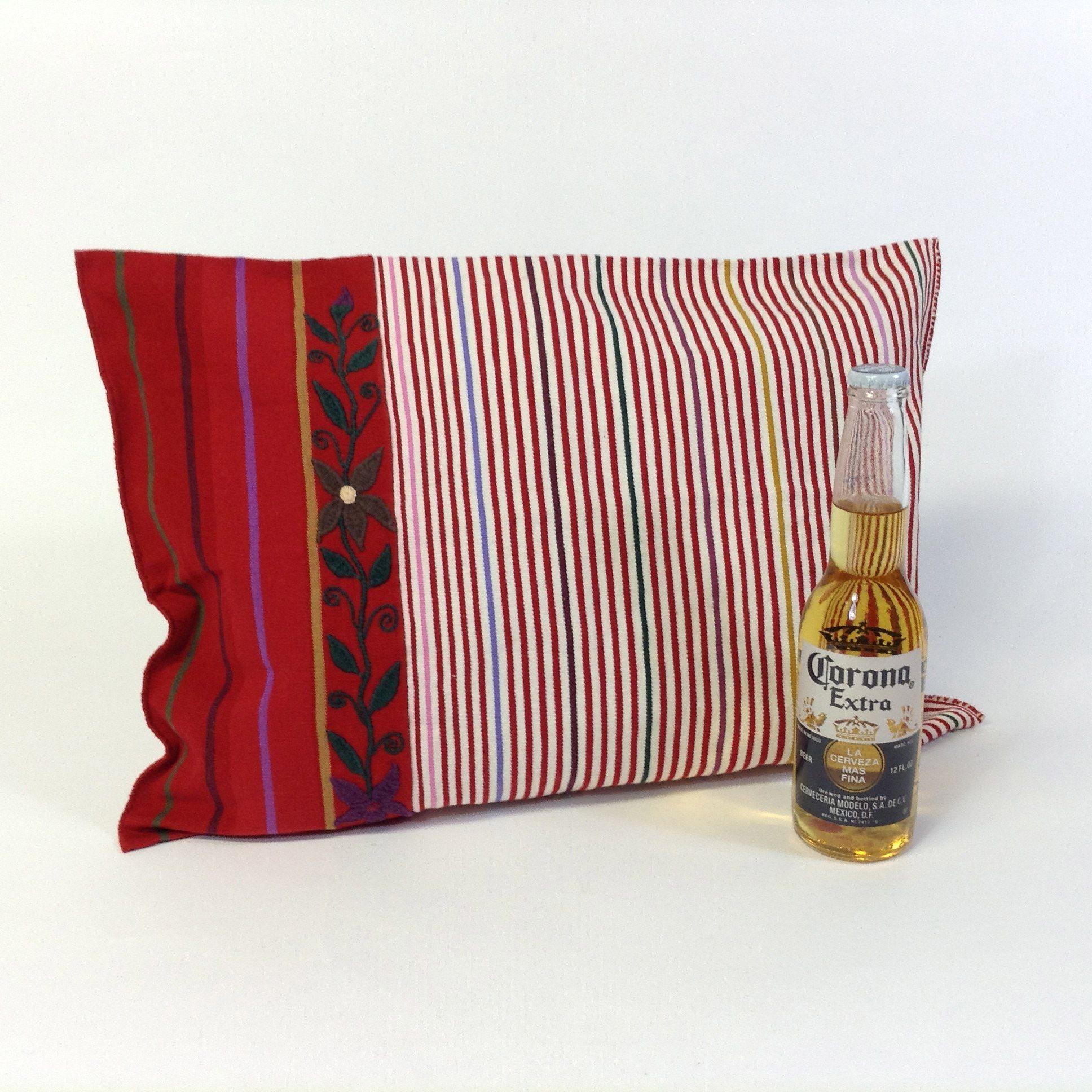A beautifully handmade pillowcase from
