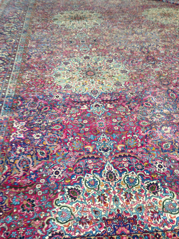 Pink 15 4 X 25 6 Kerman Persian Rug Rugs Erugs