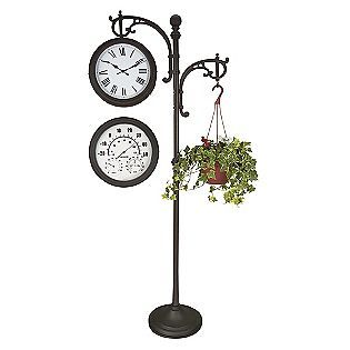 paula's note: love this Clock with Plant Hook & Temperature Gauge for the patio-
