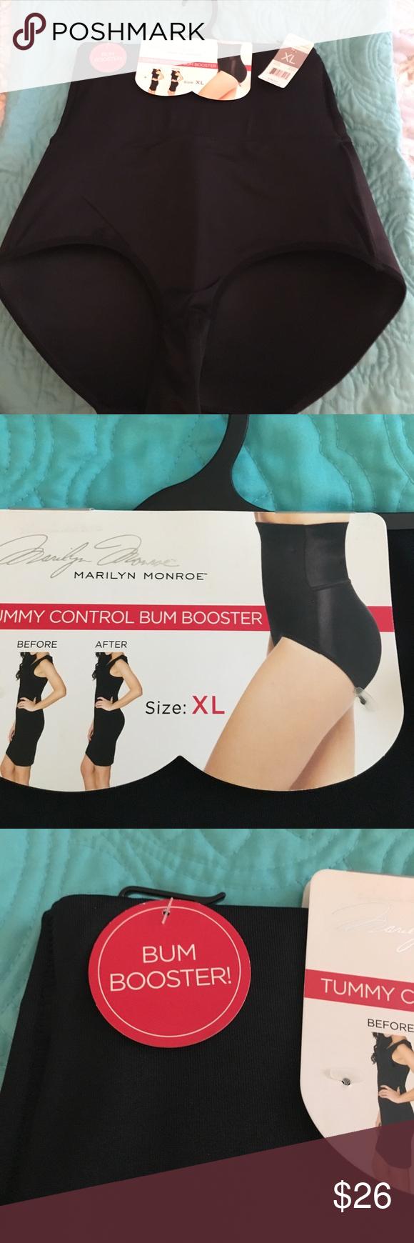 70f1380187b04 NWT Marilyn Monroe Tummy Control Bum Booster XL NEW!! NWT Marilyn Monroe  Black Tummy