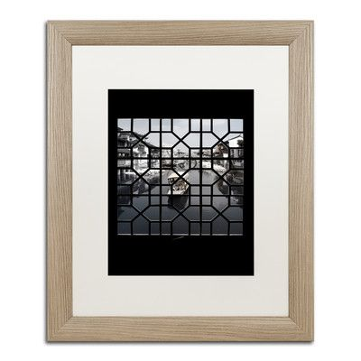 "Trademark Art ""Romantic Trip"" by Philippe Hugonnard Framed Photographic Print Matte Color: White, Size: 20"" H x 16"" W x 0.5"" D"