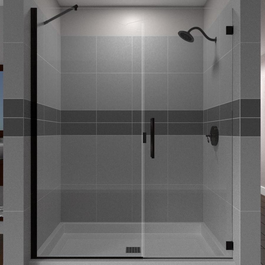 Arizona Shower Door Desert Collection 47 In To 48 In W Oil Rubbed Bronze Hinged Shower Door Shower Doors Frameless Shower Doors Shower Door Installation