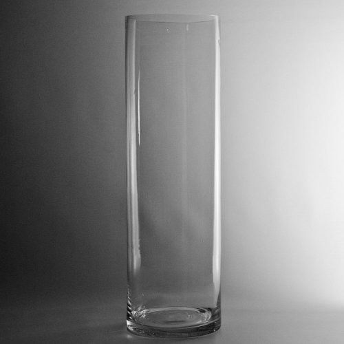 4d Clear Cylinder Glass Vase Candle Holder Wholesale Lot 4x14h