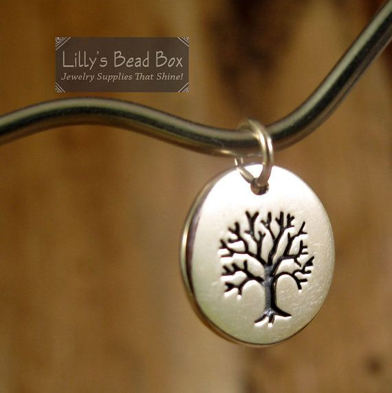 Tree Charm, Tree of Life Pendant, Sterling Silver (CH-731)