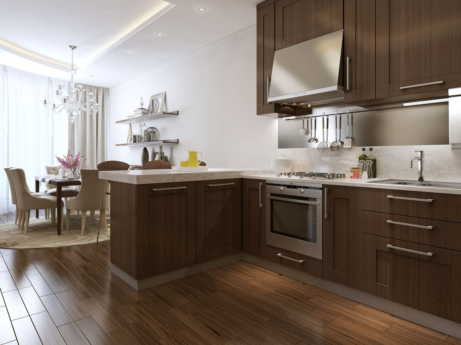 Offene Wohnküchen dunkle offene wohnküche offene wohnküchen offene
