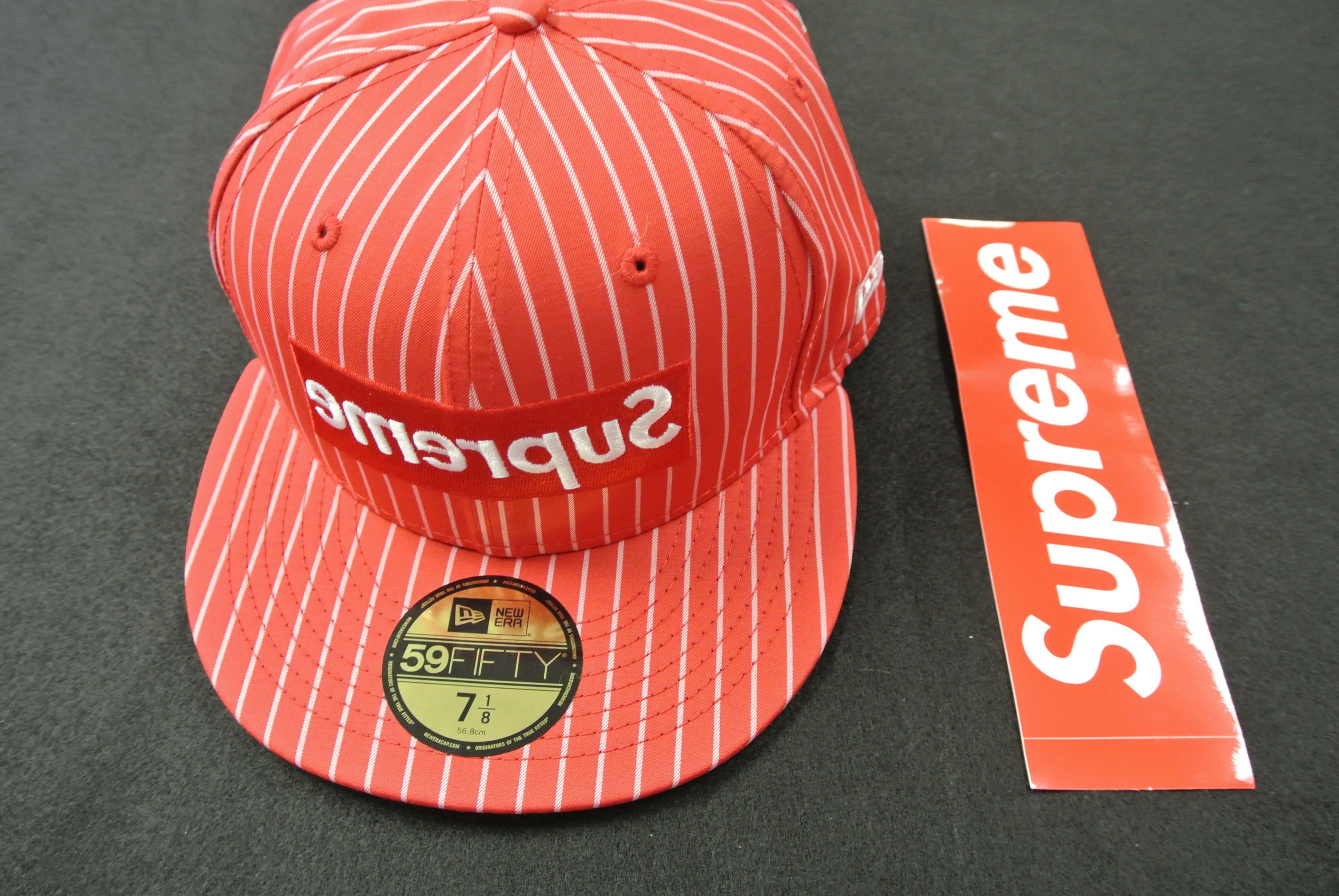 New Supreme Comme Des Garcons Shirt Red Hat Sz 7 1 8 Comme Des Garcons Shirt New Era Hat Red Hats