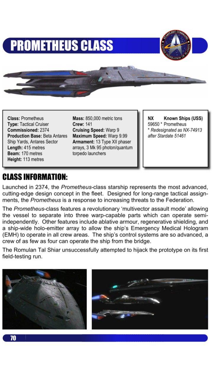 Prometheus-class | sci-fi_Star Trek | Pinterest | Star trek