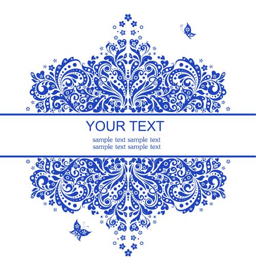 Elegant floral decor wedding invitation cards vector 02 Wedding - best of invitation card vector art