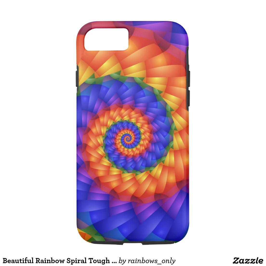 Beautiful rainbow spiral tough iphone 7 case iphone case