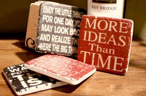 How to make custom coasters. #DIY #Crafts #gifts