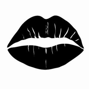 A Girl Who Likes Stuff Exfoliate Those Lips Girl Lips Drawing Black And White Cartoon Black Paper Drawing