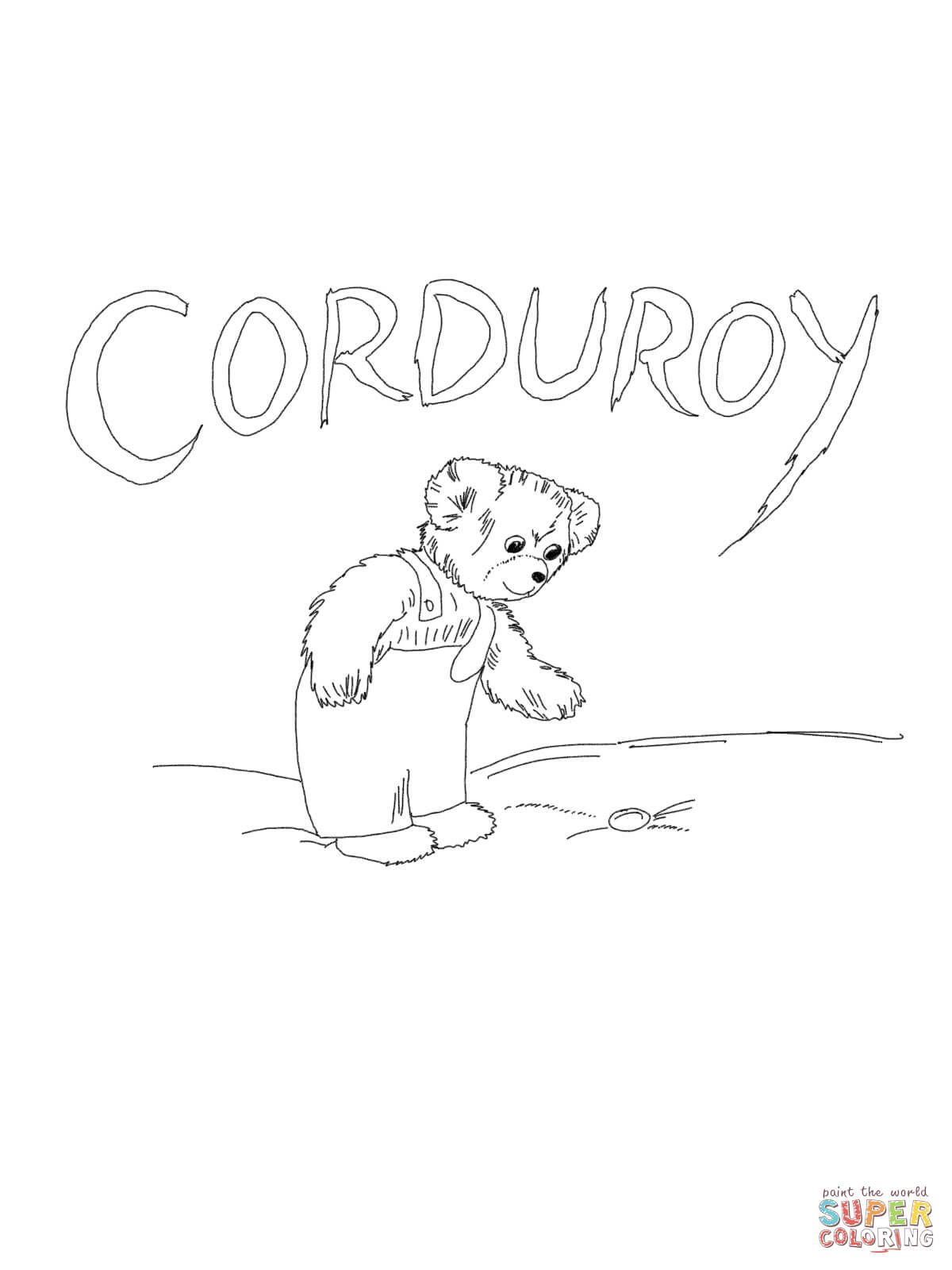 Corduroy Is Looking For Button Coloring Page Free Printable