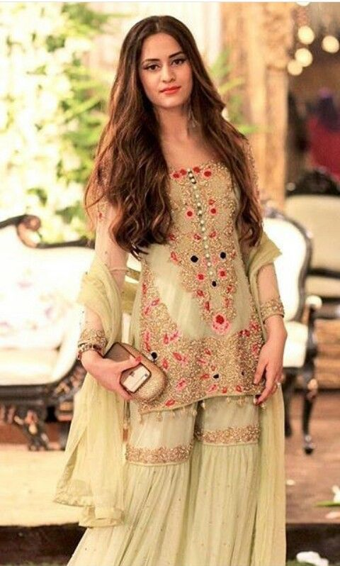 7346753203 Latest Wedding Bridal Sharara Designs & Trends 2019-2020 Collection ...