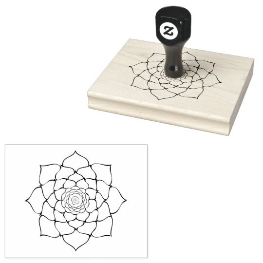"""Floral Succulent You Color In 4"""" x 5"""" Rubber Stamp"""