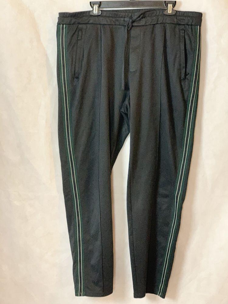78e914bc9fdd2 Vince Men's XL Black Track Jogger Pant Sweatpants Joggers Drawstring Pants  Slim   eBay