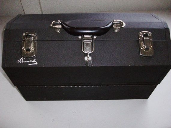 kennedy cantilever tool box. vintage kennedy cantilever tool box in great by stickdogleather, $60.00 excellent quality. very rare