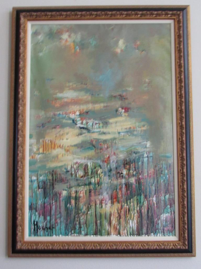 URBAIN HUCHET (1930-2014) ORIGINAL ACRYLIC ON CANVAS FOG IN THE EVERGLADE SIGNED   #FreedomOfArt  Join us, SUBMIT your Arts and start your Arts Store   https://playthemove.com/SignUp