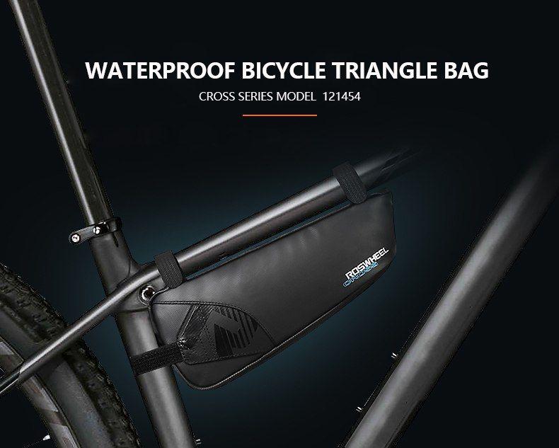 ROSWHEEL Bicycle Bike Bags 1680D Nylon Waterproof Bicycle Bike Front Tube Bag