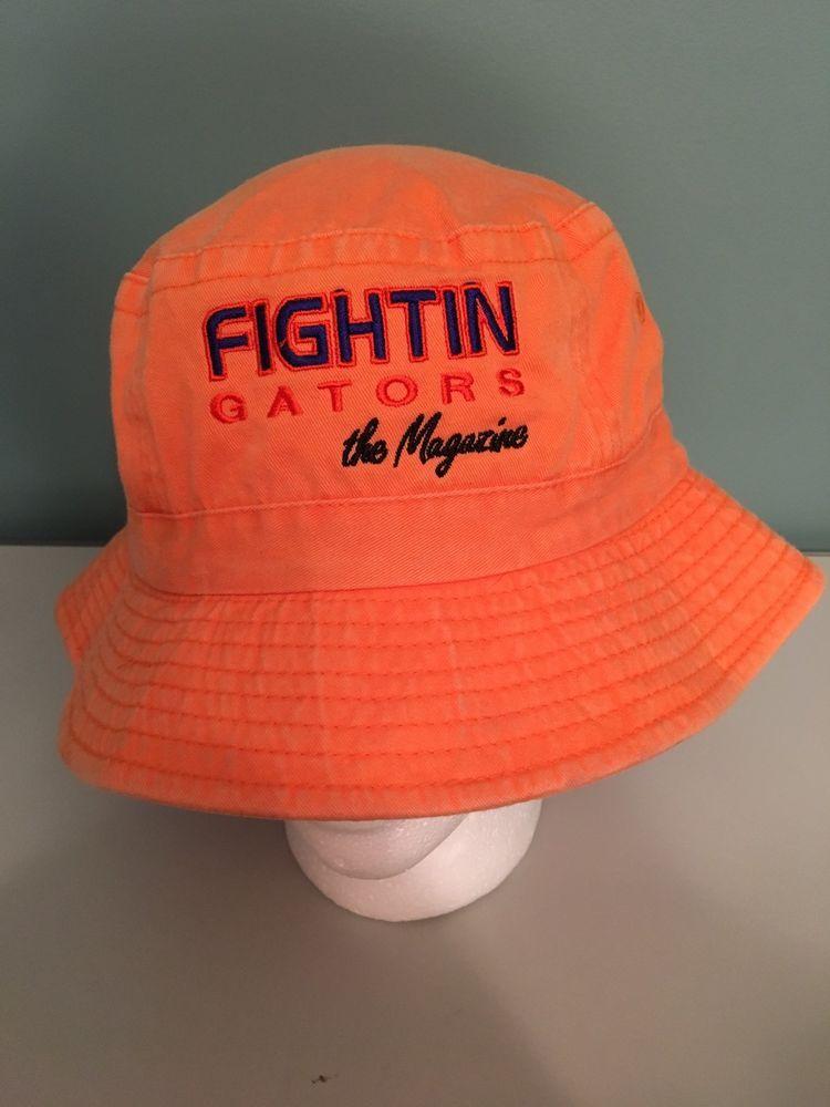 ad294c95e06 Fightin Gators The Magazine Sewn Orange Bucket Hat University Of Florida  Gators