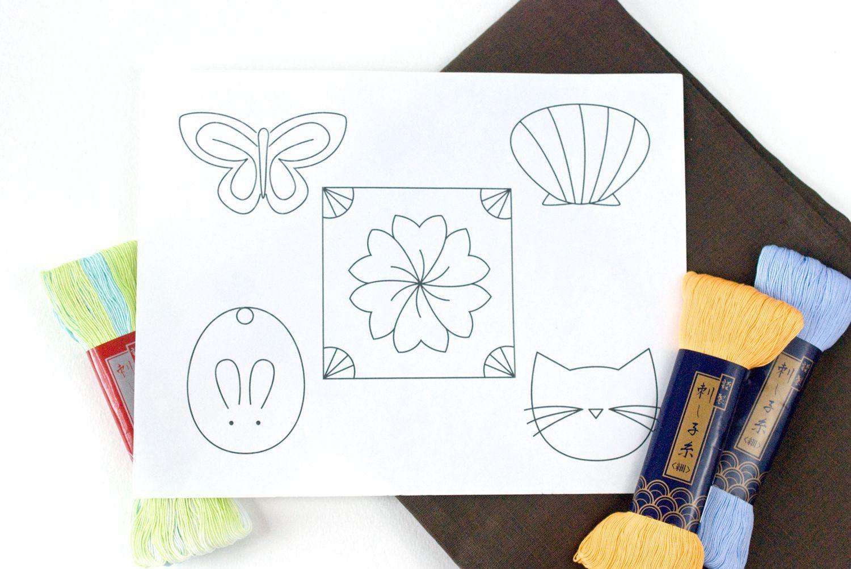 Embroider small and easy sashiko designs sashiko embroidery