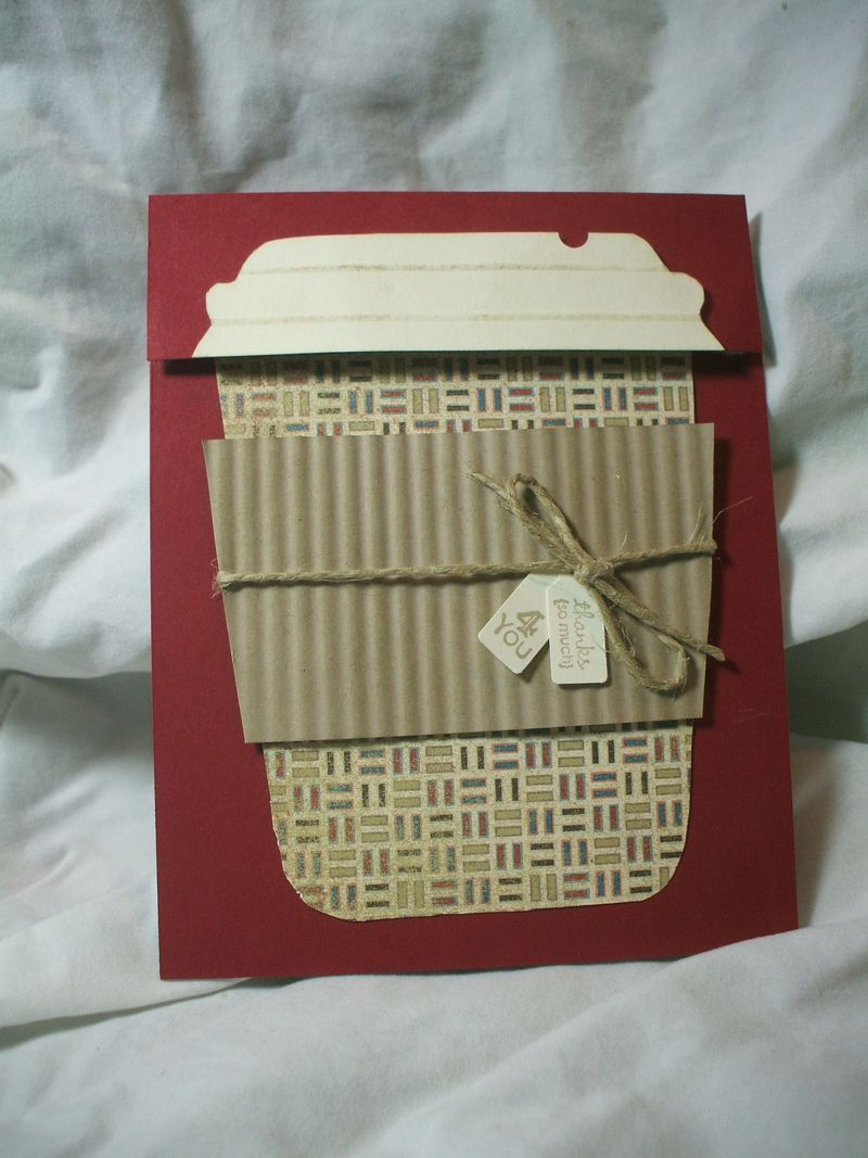 A Simply Scored Christmas Coffee Cup gift card holder