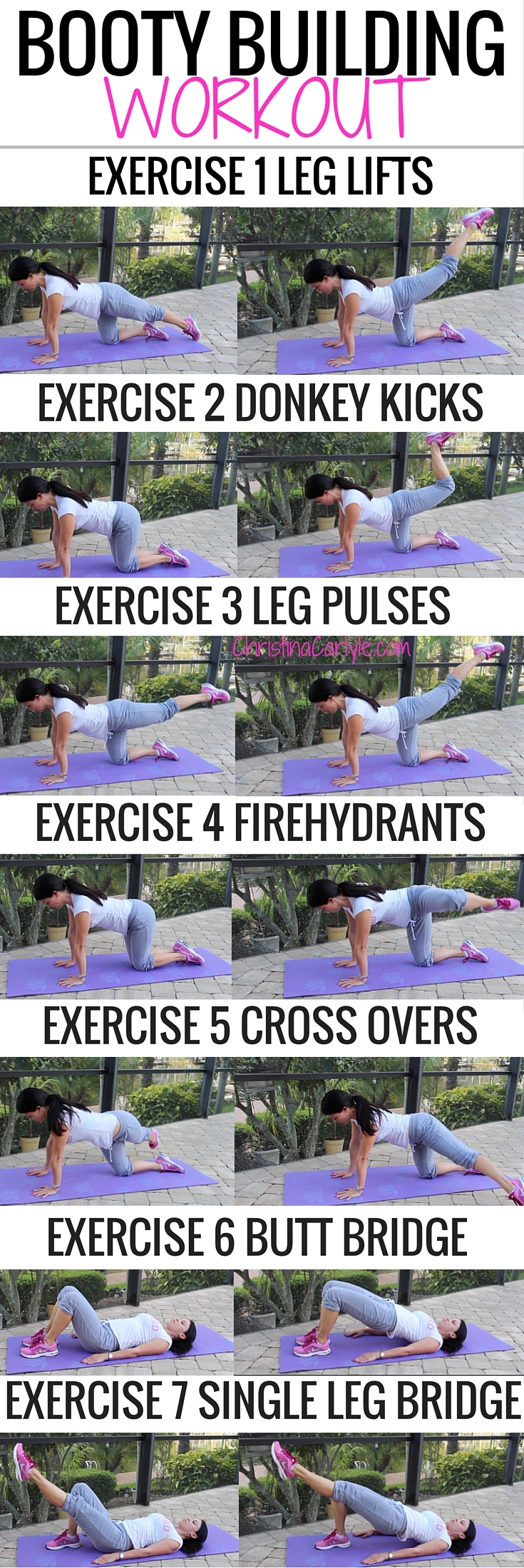 Butt Exercises that really work! Do them all for a complete booty building\u2026 #totalbodytransformation