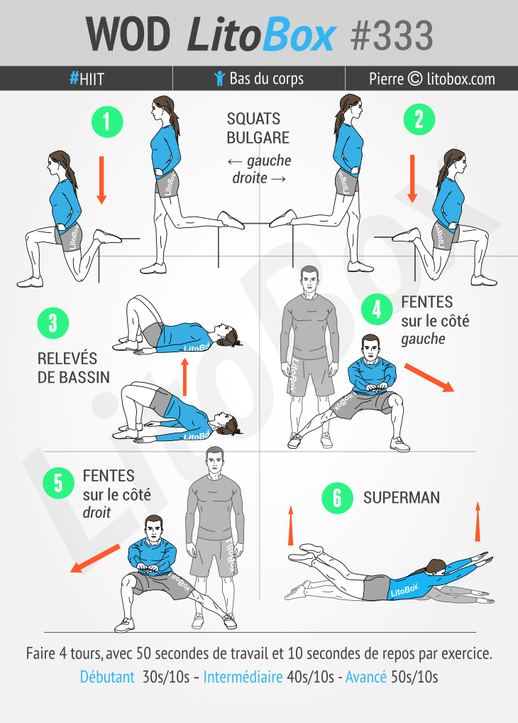 exercice cuisse fessier