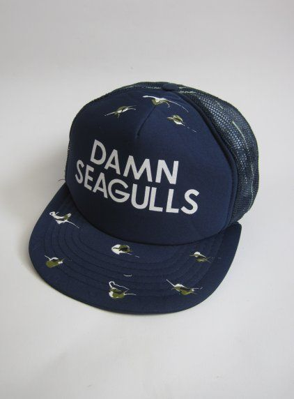 8475ba35b9ae0 Vintage 1980s Novelty  damn Seagulls  Snap Back Trucker Mesh Cap available  to buy online at Virtual Vintage Clothing £25