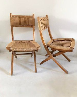 Cool Beautiful Yugoslavian Mid Century Rope Folding Chairs Ocoug Best Dining Table And Chair Ideas Images Ocougorg