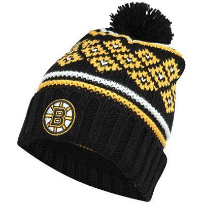 7ecdc28872193 Reebok Boston Bruins Ladies Frosty Cuffed Knit Hat - Black Gold  19.95