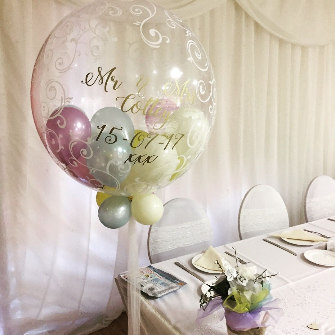 Beautiful Multi Fill Wedding Balloons Designed By Us At Party On