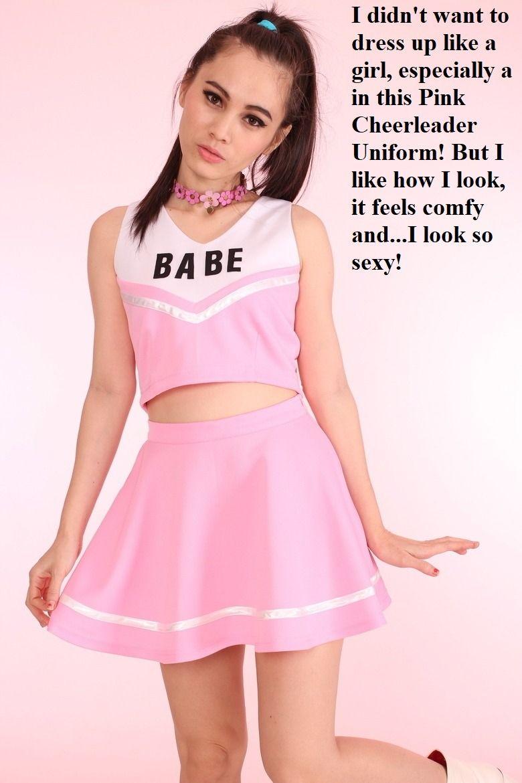 captions Pink sissy