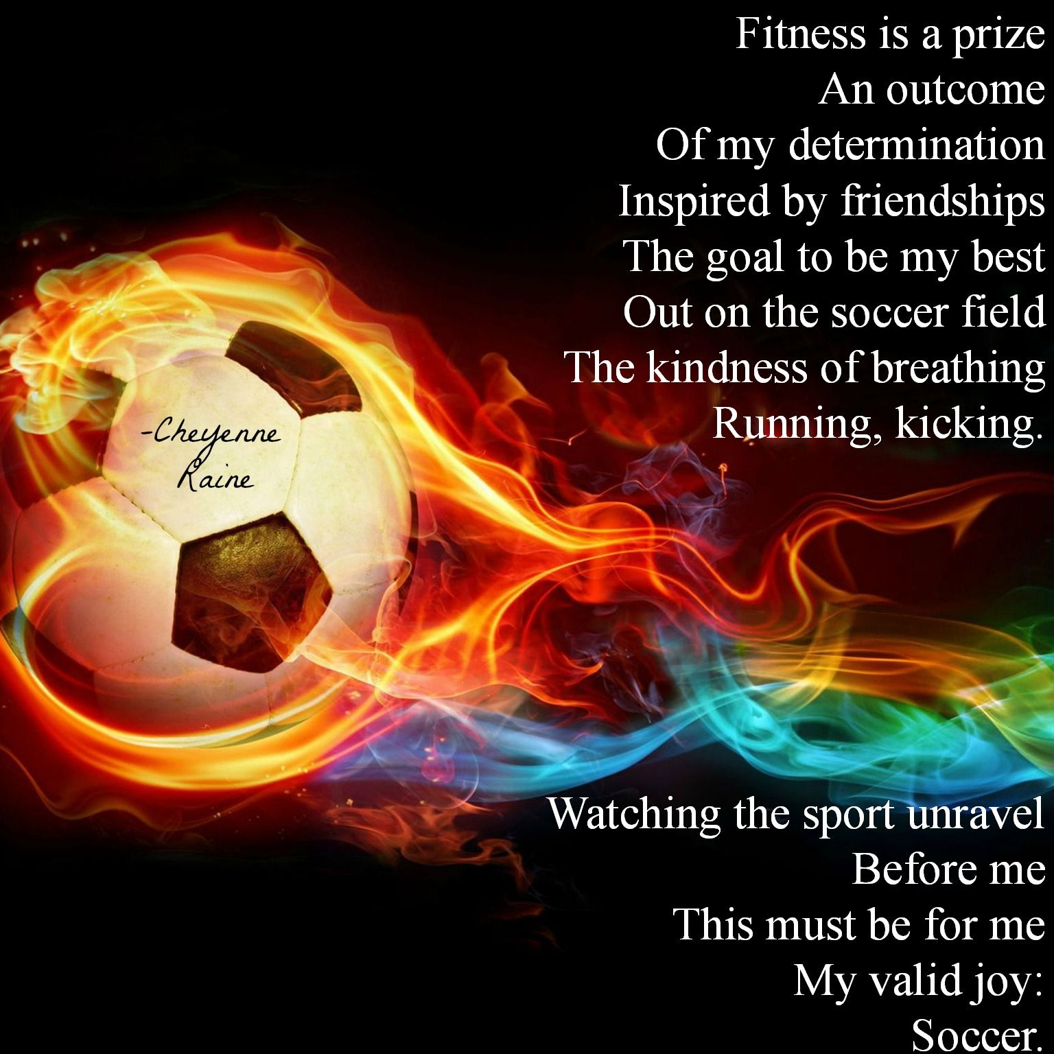 Soccer Poem Poetry Sport Fire Colorful