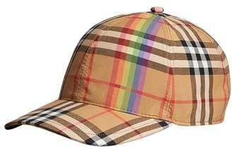 2e11a85913c Burberry Rainbow Stripe Vintage Check Baseball Cap in 2019 ...