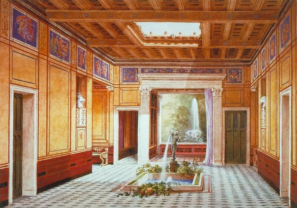 The representation of a rich roman house ancient roman for Interior design roma