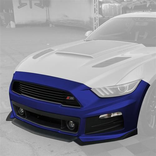 Roush Mustang Complete Front Fascia Kit Deep Impact Blue 15 16 421847 Mustang Roush Mustang S550 Mustang