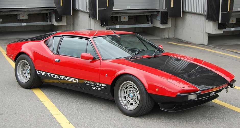 1973 De Tomaso Pantera Gts The Ford V8 Powered Gt Is Finished In The Classic Red Black Colour Scheme And Has Benefited From 15 Classic Cars Super Cars Ford Gt