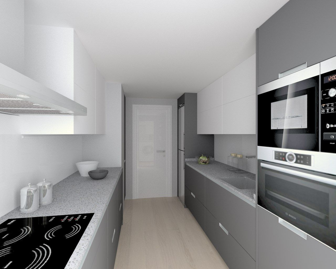 Cocina santos modelo minos estratificado gris antracita for Cocina de madera antracita