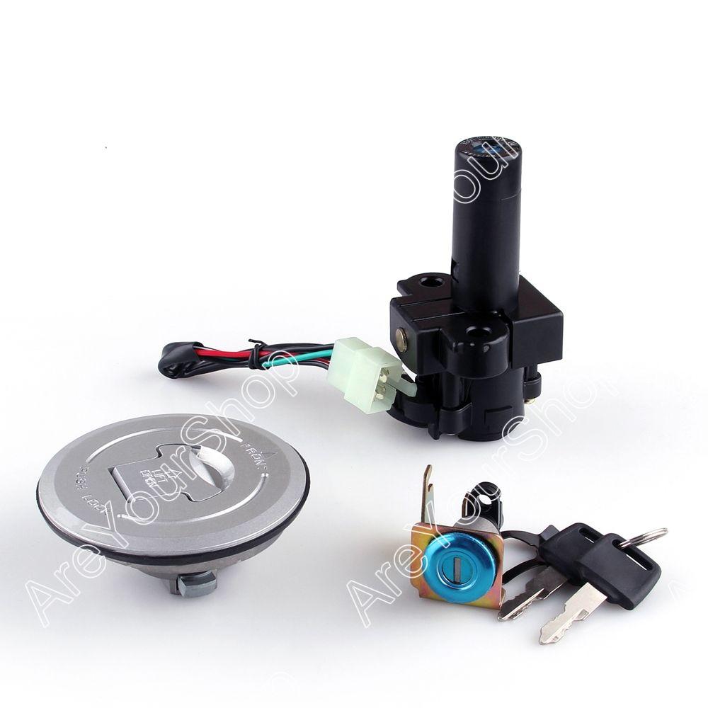 Motorcycle Lockset Universal Ignition Key Switch Lock Fuel